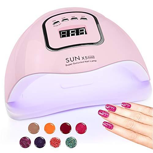 UV LED Nail Lamp, HIPPIH Nail Dryer for Gel and Regular Polish, Portable Nail UV Gel Nail Lamp with...