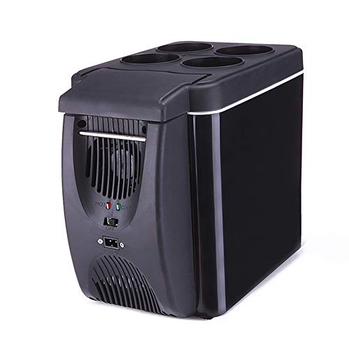 Portable Mini Réfrigérateur Congélateur 6L pour Intérieur, Extérieur, Voiture, Camp, Bureau, Refroidisseur et Réchauffeur Électrique de Voyage | Alimentation DC 12V et AC 220V
