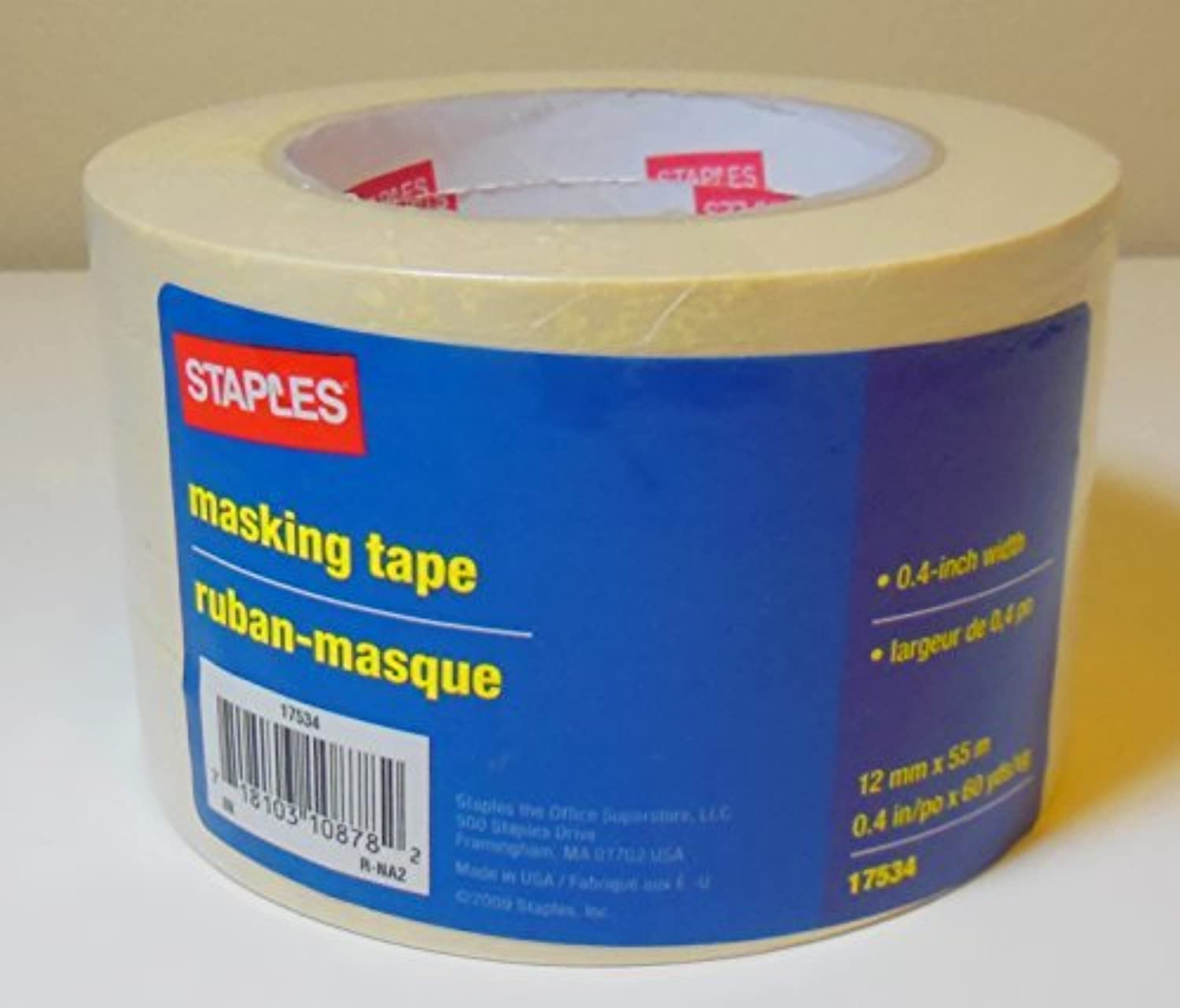Masking Tape, .4 Wide X 60 Yards, 6 Roll Pack by Staples B016P3JI5I     | Zürich Online Shop