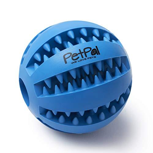 PetPäl hondenbal met tandverzorgingsfunctie, noppen, hondenspeelgoed van natuurlijk rubber, robuuste hondenbal Ø 7 cm, hondenspeelbal voor grote en kleine honden