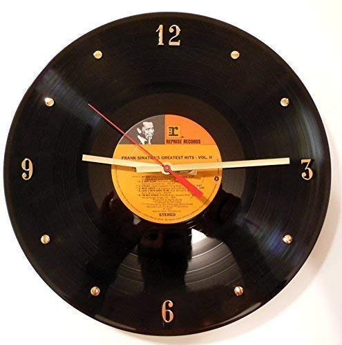 Record Clock - Frank Sinatra. Handmade clock Elegant wall Max 46% OFF 12
