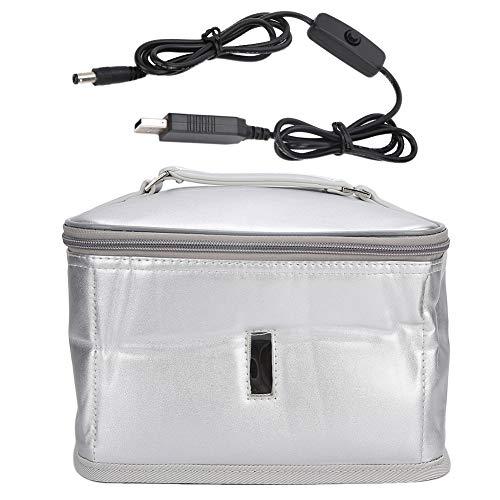 Esterilizador UV Dispositivo de desinfección LED, portátil de 7.6L, caja de limpieza de herramientas de arte de uñas, dispositivo de bolsa de limpieza para el hogar y el salón de uñas (375 nm)