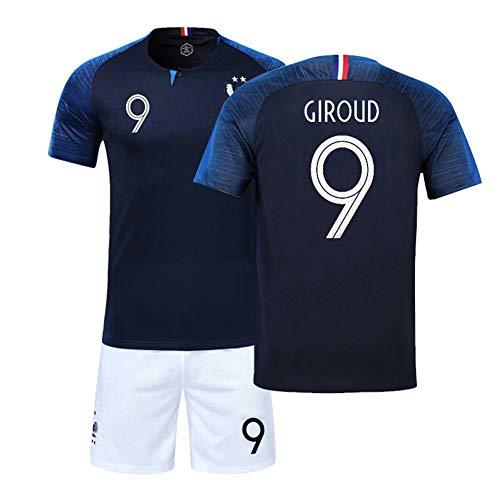 CLST Weltmeister Der Trikot-Fußball-Weltmeisterschaft 2018 Zwei Sterne für Erwachsene und Kinder,Giroud,18(105-115CM)