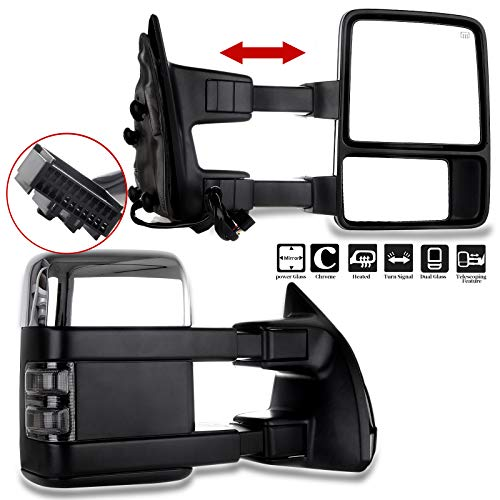 FEIPARTS Tow Mirrors Towing Mirrors Fit for 2008-2016 for Ford for F250 for F350...