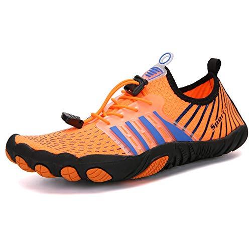 Yvonnelee Escarpines de playa, zapatos de agua, zapatos de surf, zapatos de natación, para mujer, hombre, niños, 1165