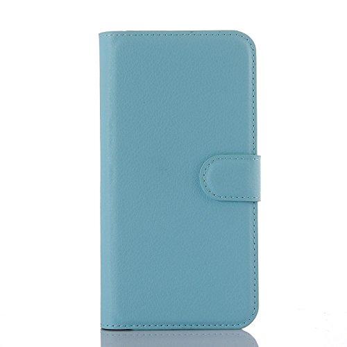 pinlu® PU Leder Hülle Schutzhülle Für Google LG Nexus 5X Prämie Geschäfts Art Haut Textur Flip Etui Brieftasche Mit Stand Function Innenschlitzen Design Cover Blau