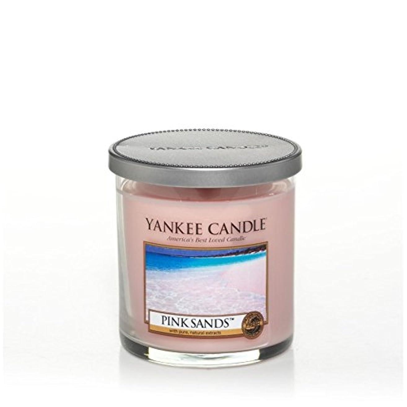 全員空港Yankee Candles Small Pillar Candle - Pink Sands? (Pack of 2) - ヤンキーキャンドルの小さな柱キャンドル - ピンクの砂? (x2) [並行輸入品]