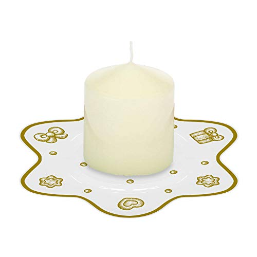 Candela con piattino porta candela a forma di stella'Gold icons'