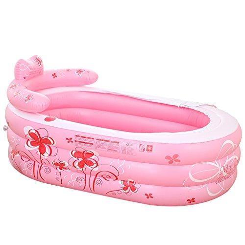 Grande Baignoire Gonflable Rose Baignoire Familiale Baignoire Pliable pour Bébé Piscine pour Bébé Bain à Bulles (taille : 130 * 75 * 70)