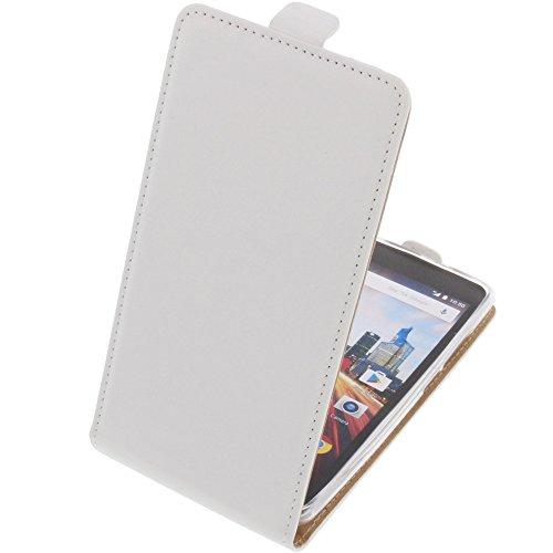 foto-kontor Tasche für Archos 50f Helium Smartphone Flipstyle Schutz Hülle weiß