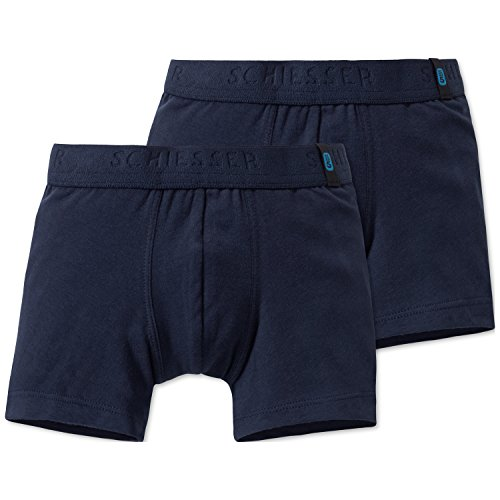 Schiesser Jungen 95/5 2pack Shorts Boxershorts, Blau (Nachtblau 804), 104 (2er Pack)