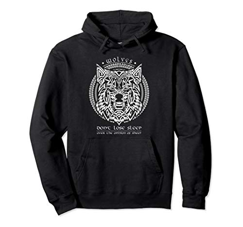 Celtic Wolf Fenrir Viking Wisdom Quotes Pullover Hoodie