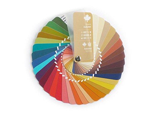 Farbpass Herbst-Frühling (Warm Autumn) als kleiner Fächer mit 35 typgerechten Farben zur Farbanalyse, Farbberatung, Stilberatung