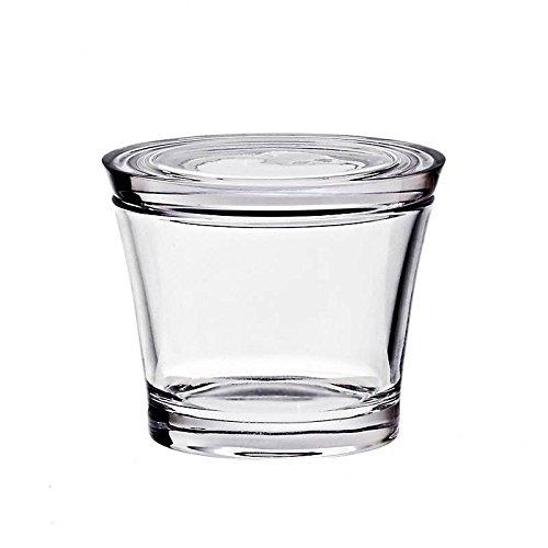 CRISTALICA Zuckerdose Dose Döschen Kristallglas Bleikristall Glas Transparent Höhe 7,5 cm