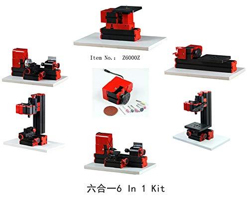 ZHOUYU Z6000Z 24W Motor 20,000rpm/min 7 in 1 Mini Basic Machine Kit DIY Power Tool Woodworking Hobby Model Making Lathe