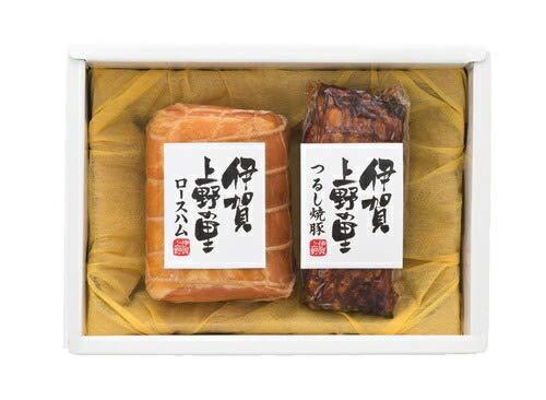 出産 結婚の内祝い(お祝い返し) に 【特選ギフト】 伊賀 上野の里 ロースハム & つるし 焼豚 セット SK(軽)