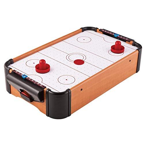 Applyvt Airhockey Tischspiel, Air Hockey Spiel Für Kinder, Air Hockey Tisch Batteriebetriebener Für Familie Mit Puck Und Drücker, 51 x 31,5 x 9,5 cm