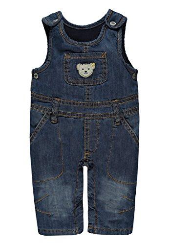 Steiff Latzhose Jeans Salopette, Bleu (Dark Blue Denim 0012), 62 cm Garçon