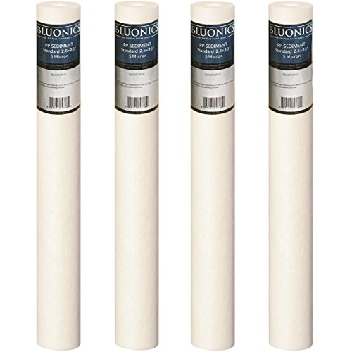 "20"" x 2.5"" Sediment Water Filter (4) 5 Micron Whole House Cartridges"