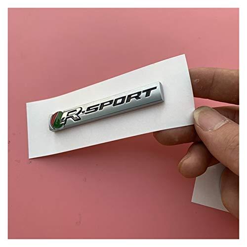 Meet's shop Emblema De Repuesto R Green Red Badge R-Sport Bar Emblema Compatible con Jaguar XE F-Pace Fender Tronc Trunder Coche Sport Sport Coche Pegatina de Alto Rendimiento Placa de Nombre