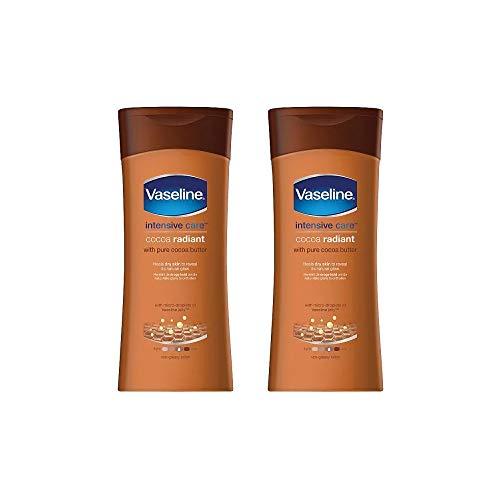 Vaselina Cuidados Intensivos Loción Cacao Radiante/Cocoa Radiant 200ml - Paquete de 2