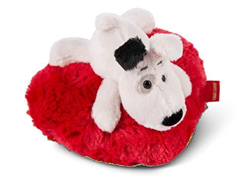 NICI 46073 Kuscheltier Love Hund 13cm liegend auf Herzkissen