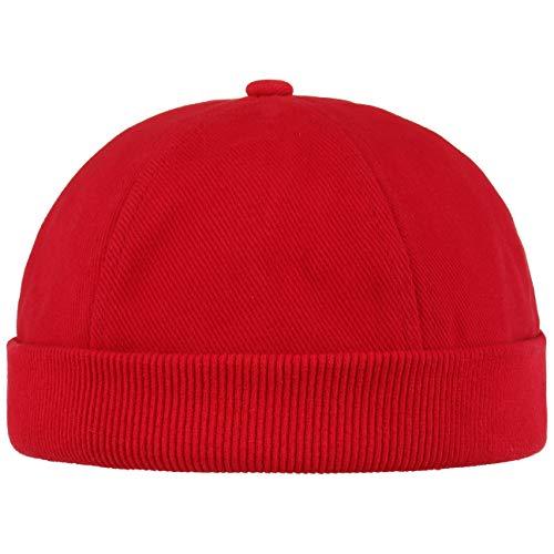 Hutshopping Cotton Dockercap Herren | Mütze aus 100% Baumwolle | Docker in Einheitsgröße (54-61 cm) | Cap mit Klettverschluss | Hafenmütze in Verschiedenen Farben | ganzjährig Tragbar, Rot, Einheitsgröße