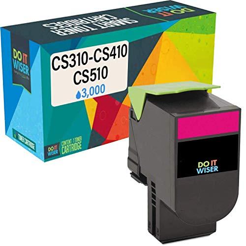 Do it Wiser Compatible Toner Cartridge Replacement for Lexmark 701HM CS310n CS310dn CS410n CS410dn CS410dtn CS510de CS510dte 70C1HM0 (3,000 Pages, Magenta)