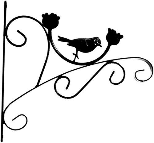 XCJJ hanglamp wandhaken ijzer hangmand vintage voor bloempotten, lichten, borden enz. (met schroeven) 29 * 32cm