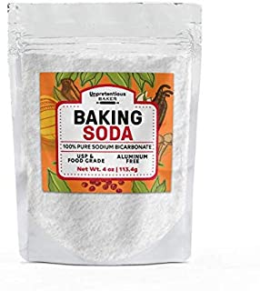 Baking Soda, 4 oz. by Unpretentious Baker, Highest Quality Food & USP Grade, Non-GMO, Pesticide Free, Great for Baking & C...
