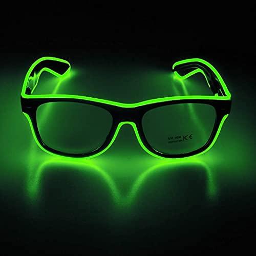 Disfraces de gafas de sol LED parpadeantes para fiestas, EDM, Halloween RB01 (verde fluorescente)