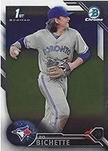 2016 Bowman Draft CHROME - Bo Bichette - 1st Official Bowman CHROME Card - Toronto Blue Jays Baseball Rookie Card RC #BDC74