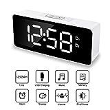 TWFRIC Réveil Numérique, reveil numerique LED reveil avec Snooze Double Alarme 12/24 Heures Luminosité Réglable 25...