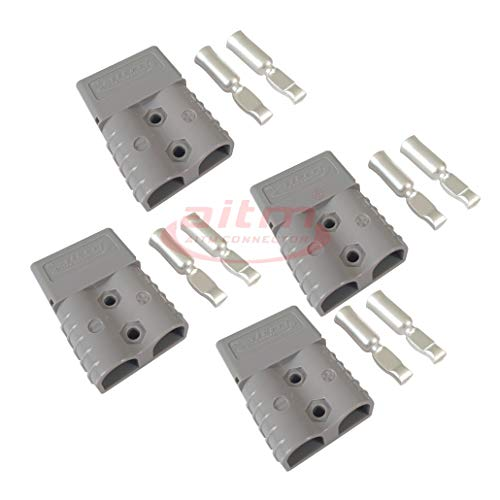 120A Battery Connector Quick Connect Battery Modular Power Connectors Quick Disconnect (Grey)