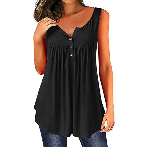 2021 Nouveau T-Shirt Femme Ete Mode Manches Courtes Lâche - Tee Shirt Manche Longue Casual Grande Taille Chemise Couleur Unie Tunique Top pour Femme