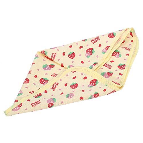 Waterdicht katoen veranderende pads draagbare ademende lek bewijs matrasbeschermer baby veranderen mat doek luier invoegen voor peuter 40*50CM Aardbei