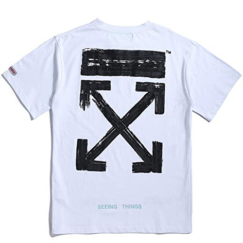 mich Off OW White Classic Arroff OW White Print Hip Hop Short Sleeve T-Shirt for Men Women