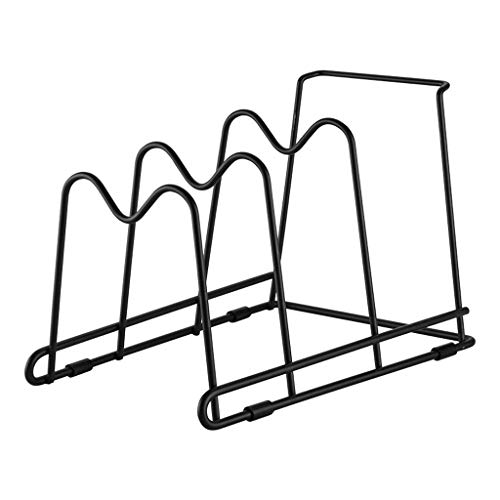 WHL Tableware Drainers Creative Kitchen Supplies Chopping Board Pot Drain Rack Multifunctional Non-perforated Cutting Board Rack Home Storage Drain Rack Kitchen Storage Rack
