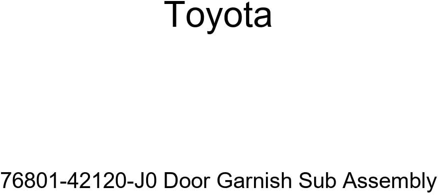 All stores are sold TOYOTA Genuine 76801-42120-J0 Door Ranking TOP20 Garnish Sub Assembly