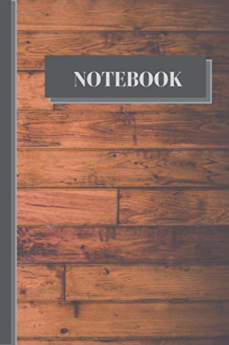 NOTEBOOK: Rustic wood panel notebook blank lined pages