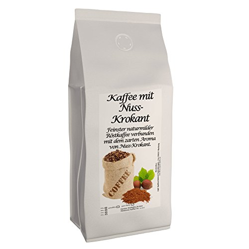 C&T Aromakaffee - Aromatisierter Kaffee Gemahlen - Nuss-Krokant 500 g - Privatrösterei Spitzenkaffee Flavoured Coffee
