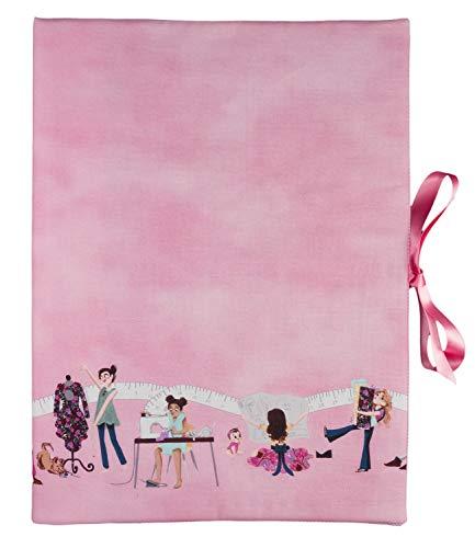 bettina bruder - Sammelmappe DIN A3 - innen 30 Sichthüllen - Nähen Schneiderei rosa - Schnittmuster Aufbewahrung
