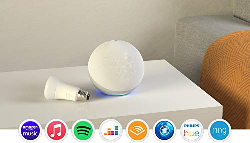 Echo (4. Generation), Weiß + Philips Hue White LED-Lampe
