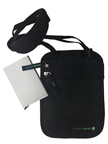 Borsello Portadocumenti & Portafoglio. Portafoglio Fine, a Prova di Ladro, Tecnologia RFID, Porta Passaporto per Uomo e Donna per proteggere Carte di Credito e ID - Fantastica Idea Regalo