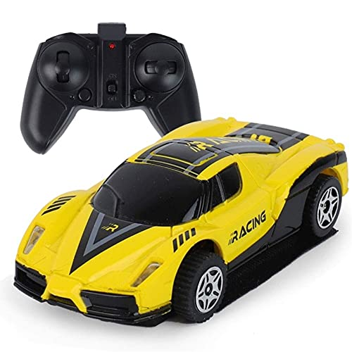 Mini coche controlado con control remoto RC Radio de pared Racing Racing Carri Carri Racer Magic Peach para niños Cumpleaños STUNT Cumpleaños Regalos de cumpleaños Competición para adultos Niños Regal
