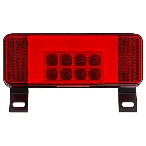 Lumitronics RV LED Driver Side Combination Tail light with License illuminator (Black)