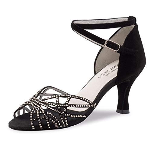 Mujeres Dance Sneakers//Zapatos de Baile 130 Bold Anna Kern Azul//Negro Suela Sneaker