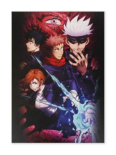 CoolChange Hochwertiges Jujutsu Kaisen Wandbild auf Hartschaumplatte   Poster 30x42cm   versch. Motive (Okkultismus Club …)