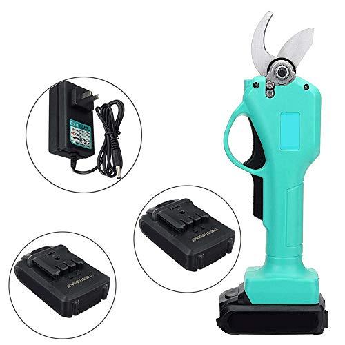 XD7 Sécateurs électriques sans Fil, 21V Sécateurs électriques Sécateurs au Lithium Sécateurs de Jardin Professionnels 30 mm (1,2 Pouces) Diamètre de Coupe avec 2 pièces 2 Ah Batterie
