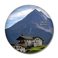 オーストリアHohlkugel Otztal Tyrol冷蔵庫マグネットホワイトボードマグネットオフィスキッチンデコレーション